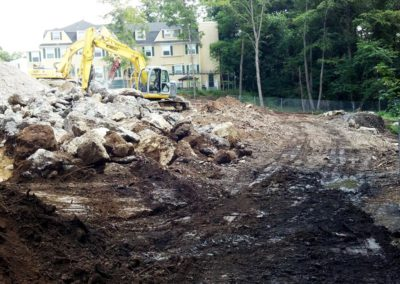 Bournewood Hospital Brookline MA - Construction site work – excavating contractors – heavy equipment – civil construction – siteworks – Westborough – Boston – Metro West – MA – RI – CT – VT – NH