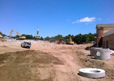 Natick High School Natick MA - Construction site work – excavating contractors – heavy equipment – civil construction – siteworks – Westborough – Boston – Metro West – MA – RI – CT – VT – NHiteworks