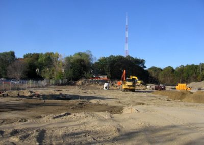 Lofts at Charles River Landing Needham MA - Construction site work – excavating contractors – heavy equipment – civil construction – siteworks – Westborough – Boston – Metro West – MA – RI – CT – VT – NH