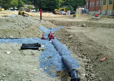 Natick High School Natick MA - Construction site work – excavating contractors – heavy equipment – civil construction – siteworks – Westborough – Boston – Metro West – MA – RI – CT – VT – NH